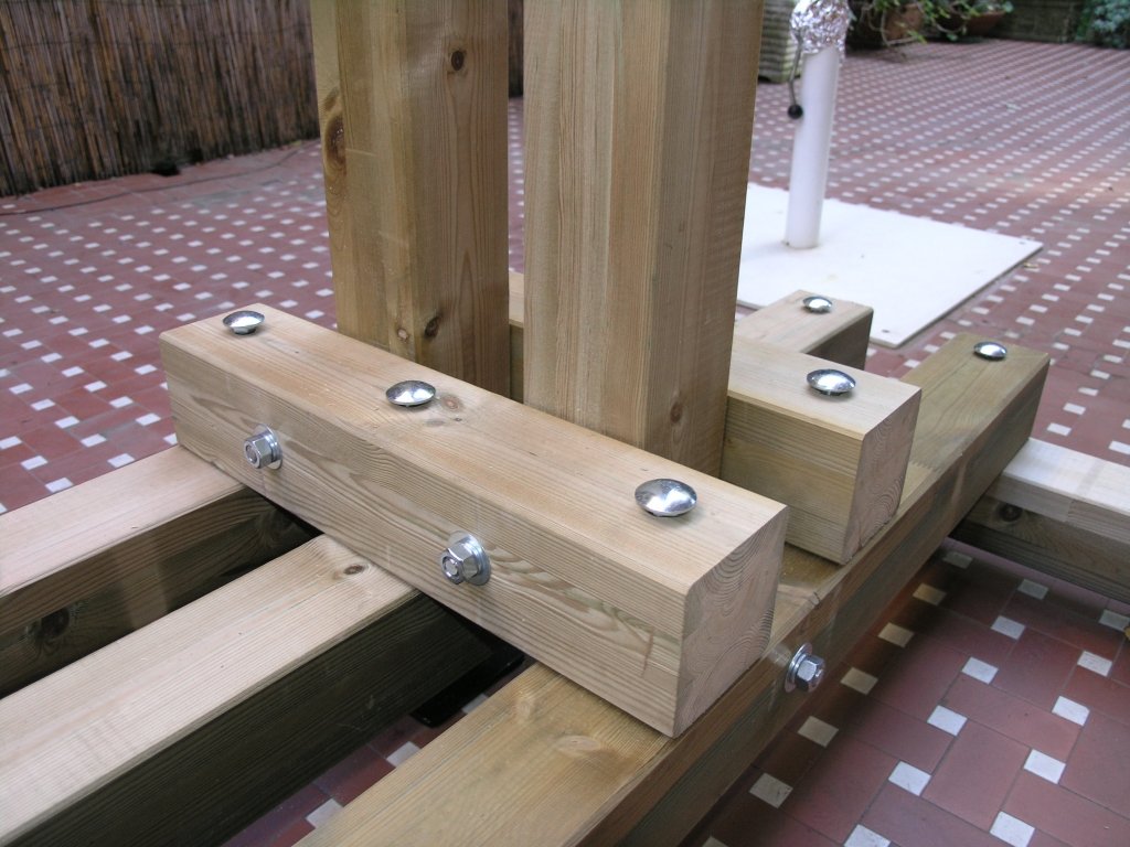 IZØINX - Wooden tilting base for vertical antenna -
